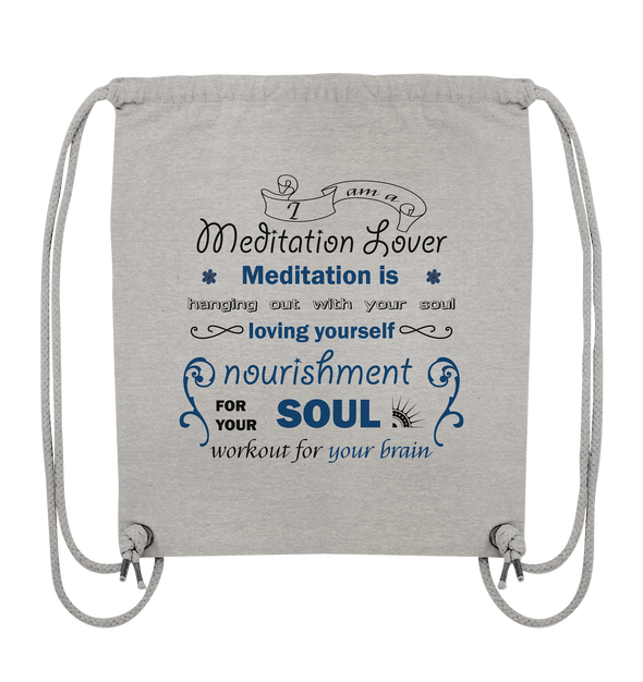 MEDITATION LOVER<br>Organic Gym-Bag
