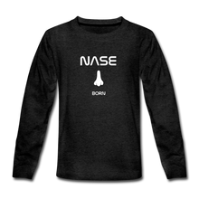 "Lade das Bild in den Galerie-Viewer, Teenagers' Premium Longsleeve ""Nase born"" - Anthrazit"