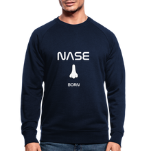 "Lade das Bild in den Galerie-Viewer, Organic Sweatshirt ""Nase born"" - Navy"