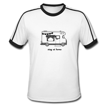 "Lade das Bild in den Galerie-Viewer, Men's Retro T-Shirt ""Stay at home"" - Weiß/Schwarz"