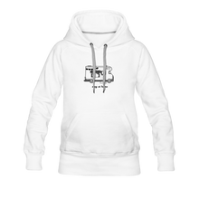 "Lade das Bild in den Galerie-Viewer, Women's Premium Hoodie ""Stay at home"" - Weiß"