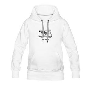 "Women's Premium Hoodie ""Stay at home"" - Weiß"