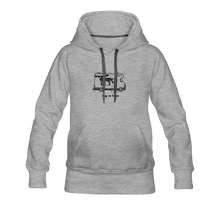 "Lade das Bild in den Galerie-Viewer, Women's Premium Hoodie ""Stay at home"" - Grau meliert"