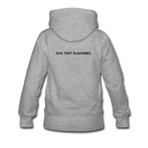 "Women's Premium Hoodie ""Stay at home"" - Grau meliert"