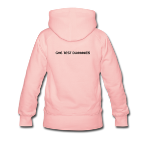 "Women's Premium Hoodie ""Stay at home"" - Kristallrosa"