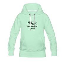 "Lade das Bild in den Galerie-Viewer, Women's Premium Hoodie ""Stay at home"" - helles Mintgrün"