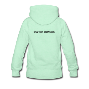 "Women's Premium Hoodie ""Stay at home"" - helles Mintgrün"
