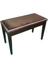 Load image into Gallery viewer, Brown Cushioned Deluxe Duet Piano Stool with Storage