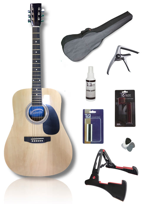 Nashville Dreadnought Acoustic Guitar Pack - Varsity Music Shop