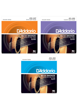 D'Addario 80/20 Bronze Acoustic Guitar Strings - Choose Your Gauge! - Varsity Music Shop