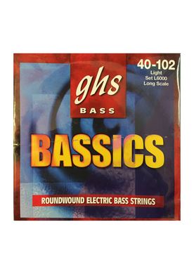 GHS 'Bassics' Roundwound Electric Bass Strings, Gauge 40-102 - Varsity Music Shop
