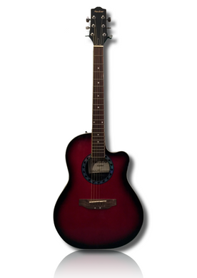 Maxtone Ovation Style Acoustic - Red Burst