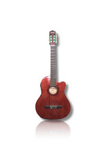 Load image into Gallery viewer, Maxtone 4/4 Size Electro Classical with Cutaway - Varsity Music Shop