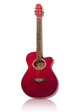 Nashville Acoustic Guitar with Cutaway - Red