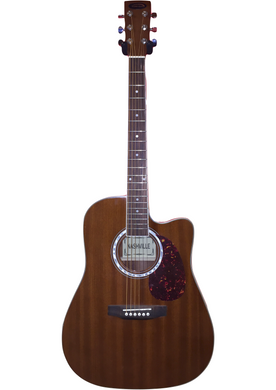 Nashville Dreadnought Acoustic Guitar with Cutaway - Mahogany - Varsity Music Shop