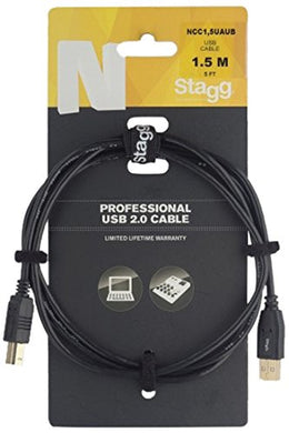 Stagg NCC1,5UAUB USB 2.0 Cable - Varsity Music Shop