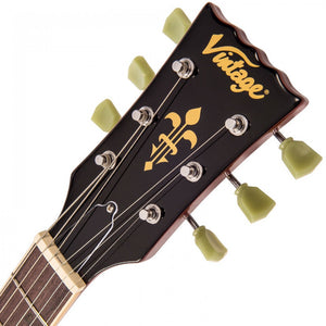 VINTAGE V100 REISSUED ELECTRIC GUITAR ~ GOLD TOP - Varsity Music Shop