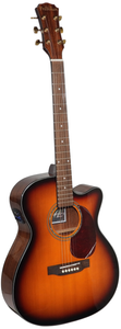 NEW Freshman 20th Anniversary Series FA1ATSBPRE Solid Spruce Top Electro-Acoustic Cutaway Guitar, Sunburst - Varsity Music Shop
