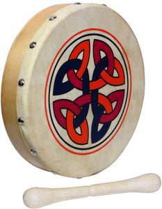 "Glenluce 8"" Bodhran with Beater - Choose Your Design! - Varsity Music Shop"