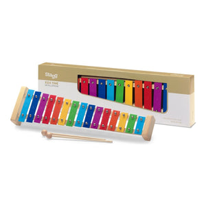 Stagg 15 Note Glockenspiel - Rainbow Keys - Varsity Music Shop