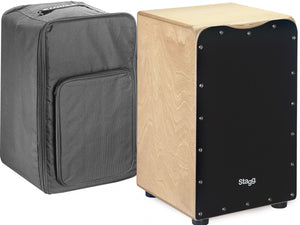 Stagg CAJ-50 Standard Black Cajon w/Gig Bag - Varsity Music Shop