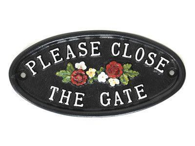 Great Garden Gate Signs