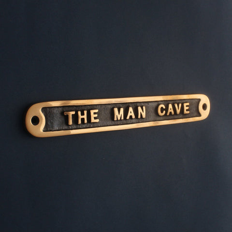 Cast Bronze Man Cave Sign