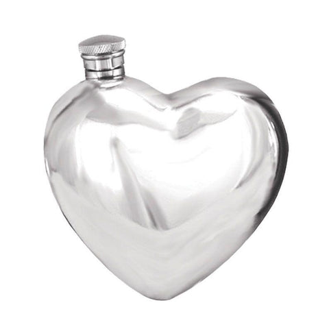 Heart Hip Flask 6oz