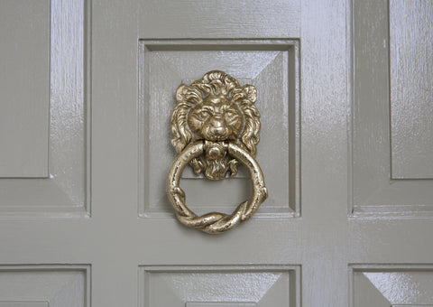 Cast Brass Lionhead Door Knocker