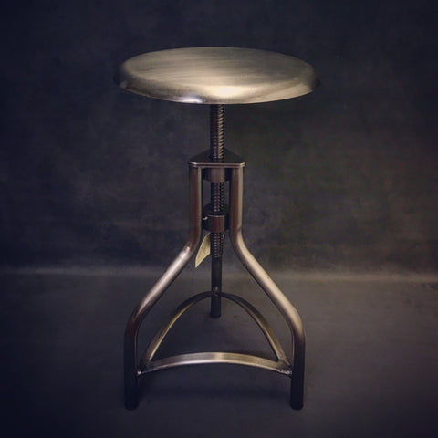 industrial metal swivel stool
