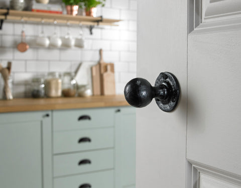 Kirkpatrick Black Iron Doorknob