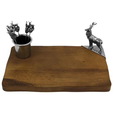 Stag Cheeseboard With Olive Picks