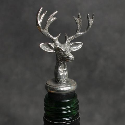 Pewter Stag Wine Bottle Stopper