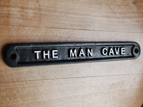 Cast Man Cave Sign