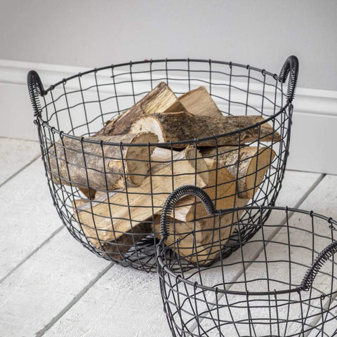 Wire Log Baskets