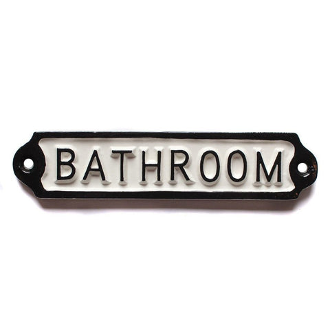 Bathroom Door Sign