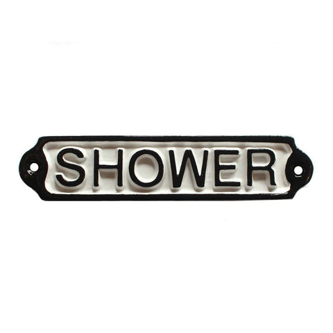 Shower Door Sign