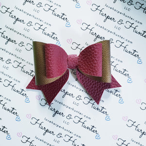 Lovely Maroon Layered Bow