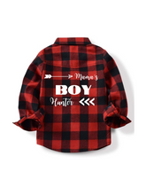 Load image into Gallery viewer, Mamma's Boy Custom Plaid Shirt