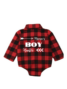 Mamma's Boy Custom Plaid Shirt