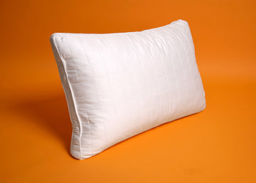 Queen sized white bamboo pillow