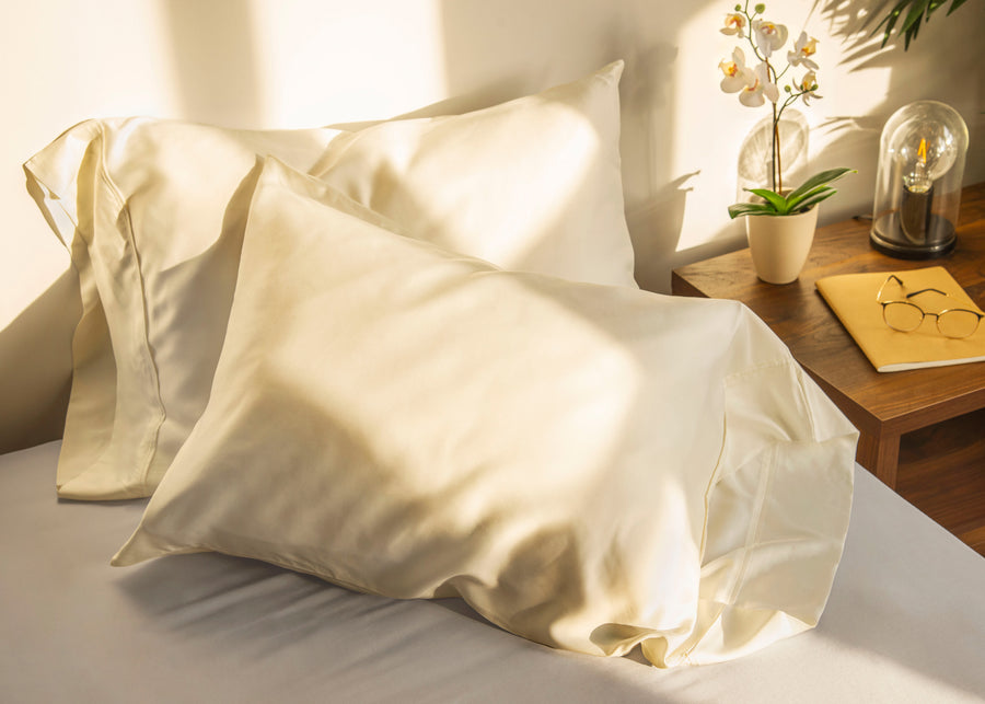 ivory bamboo pillow cases lifestyle bedroom image