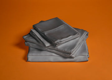 Pewter Bamboo Sheet Set Product Shot