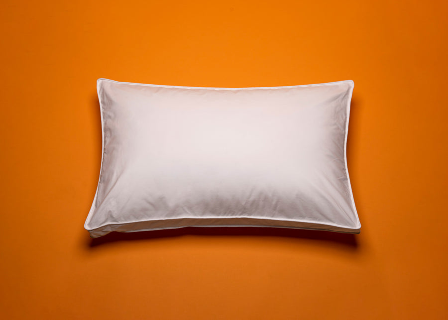 aerial view of cotton gusseted pillow protector