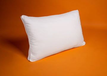 white antimicrobial pillow