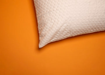 Corner of pillow protector
