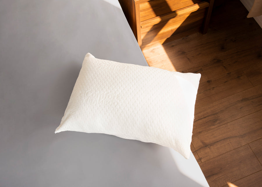 bamboo 2  pack pillow on bed