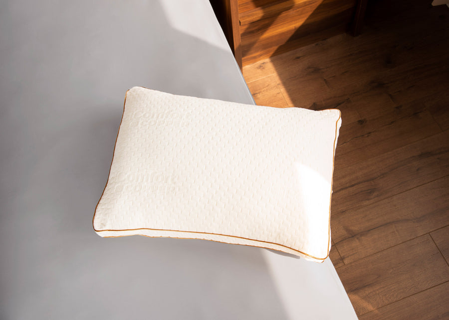 copper ion pillow on bed lifestyle