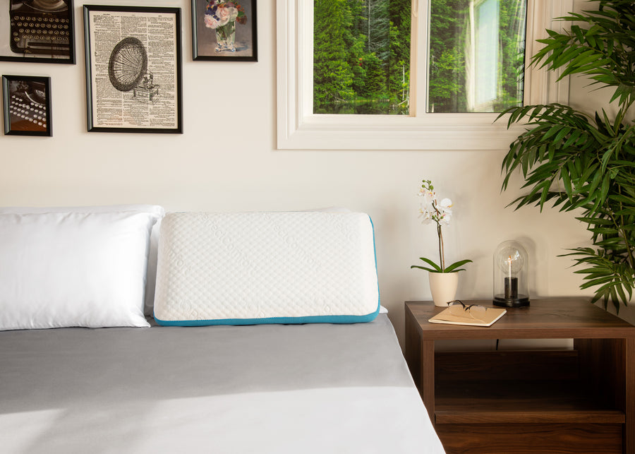 Lifestyle on bed image of Complete Comfort Memory Foam Pillow Queen
