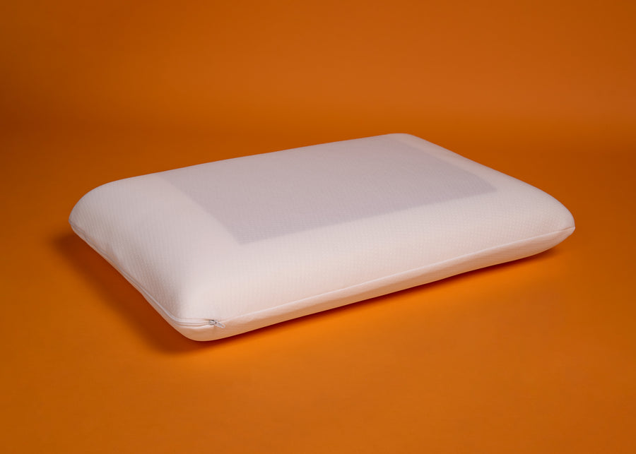 Signature Cooling Gel Memory Foam Pillow side profile product shot